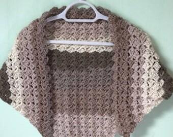 Beige Shawl Wrap, Sandy Shawl Wrap, Cream Shawl Wrap, Crocheted Shawl, Wool Shawl, Acrylic Shawl, Shawl Wrap, Summer Shawl, Chunky Shawl