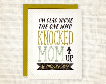 Funny Father's Day Card - Knocked Up