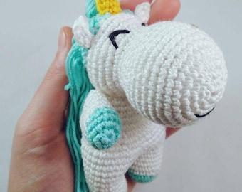Handmade toy. Unicorn.