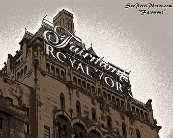 Toronto Travel Photography, Sepia toned photography, Fairmont Royal York Hotel Photograph, Toronto Photography, Travel photography,