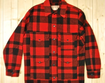 Vintage 1960's/70's Buffalo Plaid FILSON MACKINAW Cruiser Plaid Hunting Jacket Retro Collectable Rare