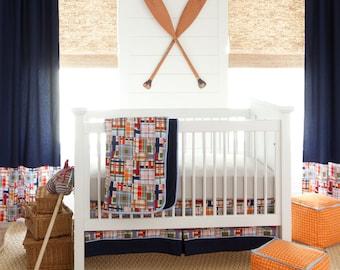 Boy Baby Crib Bedding: Coastal 3-Piece Skirt and Sheet Set by Carousel Designs