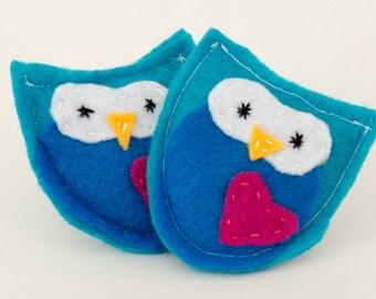 Reusable Child's Owl Handwarmers Flaxseed Hand Warmer