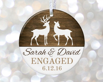 Engagement Christmas Ornament Gift for Engagement Gift for Bridal Shower Gift Just Engaged Gift, Newly Engaged Couple Gift
