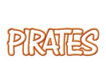 Instant Download Pirates Embroidery Machine Applique Design-939