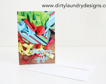 Recovery Is A Gift Greeting Card DL49- Gift