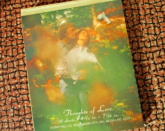 Vintage Stationery | Thoughts of Love | Pad of Cheesy 70s Romance Love Letter Paper