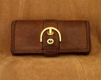 Vintage Coach Leather Buckle Wallet