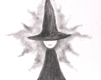 Witch - A5 Original - Drawlloween 2017