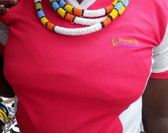 Multi Co loured Chokers  Beaded Necklace