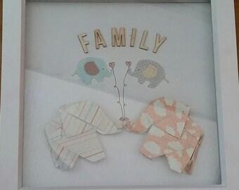 Origami Elephant Frame - Family