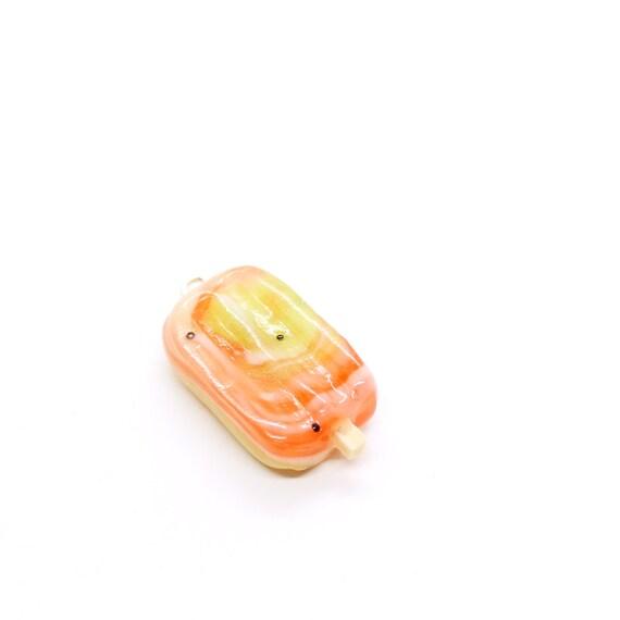 Watermelon Swirl Popsicle Charm - Stitch Marker - Progress Keeper - Scissor Fob Charm - Ready to ship