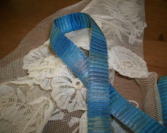 ombre rare silk antique authentic ribbon work pleated ribbon