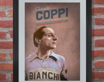 Cycling Legend Poster - Fausto Coppi