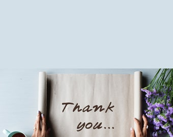 Thank You - paper & blank inside