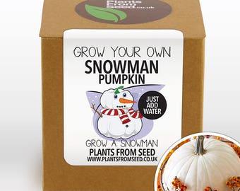 SALE NOW ON!!! - Grow Your Own Snowman White Pumpkin Plant Kit