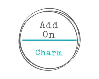 Add a Charm, Hand Stamped Disc, Hand Stamped Jewelry, Stamped Necklace, Necklace Charm,