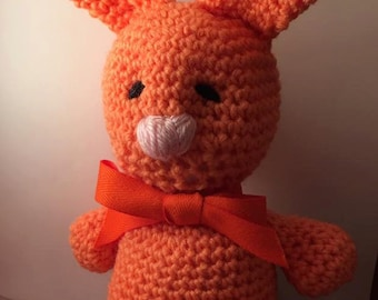 Crochet Orange Bunny
