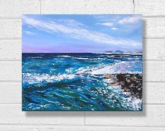 "Ocean Painting Art Acrylic Original // ""30 x 24"" on canvas"