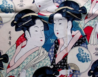 One Yard ALEXANDER HENRY Printed Cotton Sisters of the Golden Temple 1990