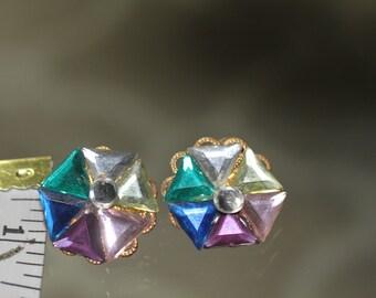 90's Multi Color Earrings