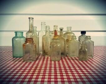 Vintage Apothecary, etc. Bottles lot