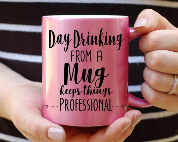 Funny Coworker Mug Gift, Day Drinking from a Mug Keeps things, Funny Mug, Quote Mug, This Might Be Vodka, This Might Be Whiskey, Office Gift