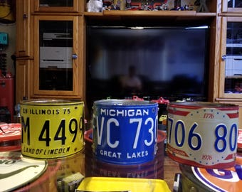 License Plate Lamp Shade. Each.     Mancave ,Shade ,Man Cave, Garage ,Vintage , car