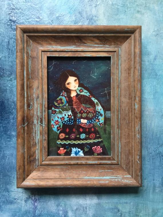 framed portrait art print