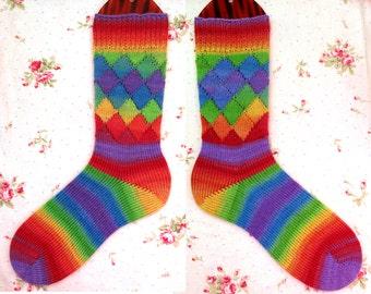 Stripey Harlequin CSM Socks Pattern