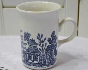 Churchill Blue Willow Tall Cup or Mug Blue and White Asian Design England Vintage Coffee Tea Replacement Panchosporch