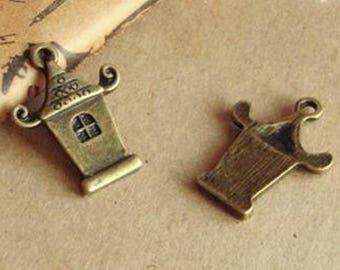 2 charm pendant antique bronze Asian home x