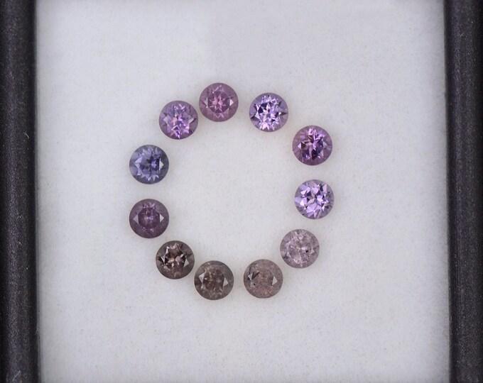 FLASH SALE! Beautiful Color Change Sapphire Gemstone Set from Tanzania, 1.37 tcw., 3 mm., Round Shape.