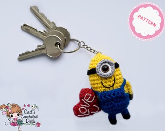 Free Amigurumi Minion : Pattern crocheted despicable me minion keychain