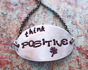 Think Positive Bracelet- Positive Vibes - Mantra Jewelry Mantra Bracelet - Positive Life - Positive Thoughts Bracelet - B54