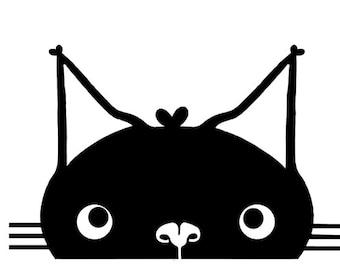 Vinyl Cat Face Sticker