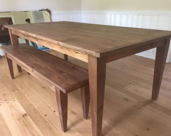Custom Tapered Leg Farm Table - Up To 8' Length!