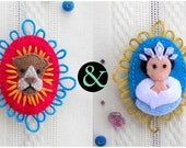 Aslan and The White Witch The Lion, the Witch and the Wardrobe Felt Brooch