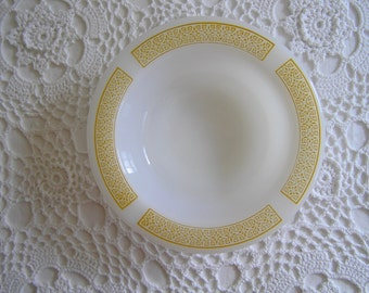 Yellow Anchor Hocking Placesetters Milk Glass Bowl, Retro Modern Kitchen