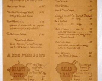 1960's Marie Callendar's Pies Restaurant Menu California Ca Take-out