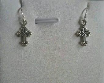 Petite Cross Sterling Silver  Earrings