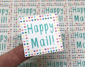 Happy Mail Stickers   Heart Stickers   Package Stickers   Shipping Stickers   Small Business Stickers
