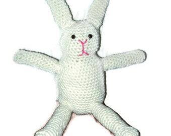 Bunny Rabbit Off  White Amigurumi Rabbit Easter Bunny Crochet Bunny Rabbit 10 Inch Tall Bunny Rabbit