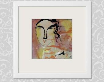 "Picture Portrait 15 x 15 cm (5.9 x 5.9 inch) ""Temperamental Spaniard"" painting Spanish"