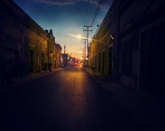 Dusk | Merida | Mexico | Home Decor | Wall Art | Fine Art Photography | Print | Matted