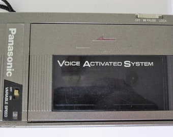 Vintage 1980s Panasonic Cassette Voice Activated System/Player Model RQ-355A