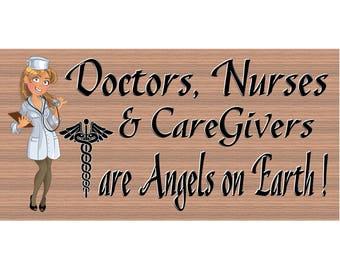 Nurse and Caregiver Wood Signs - Nurse and Caregiver Plaque - GS 2976