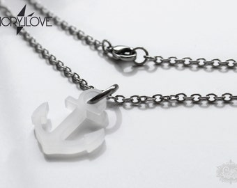 Anchor necklace ACRYLLove 'SAILOR - frozen' acryl and stainless steel