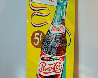 Pepsi Poster More Bounce to the Ounce Metal Advertising Poster