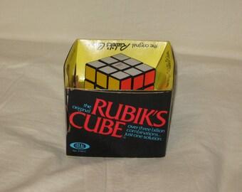 vintage 1980 ideal rubik's cube